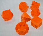 7 Piece Fire Polyhedral Set - Plain