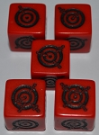 Dagger Dice-5pc. Set-Red