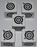 Dagger Dice-5pc. Set-White