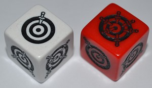 Dagger Dice-Pair Red/White